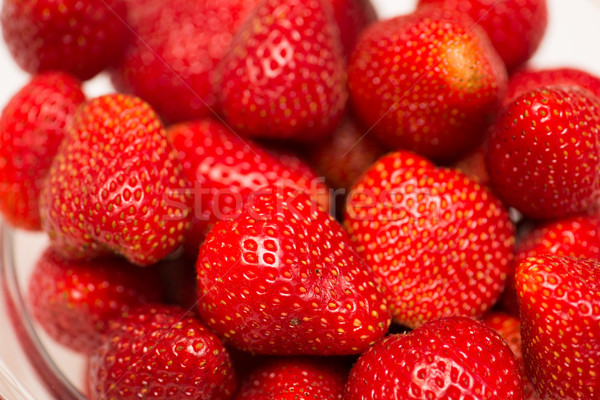 Strawberries arranged on the display Stock photo © Elnur
