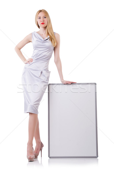 Beautiful blond in elegant dress isolated on white Stock photo © Elnur