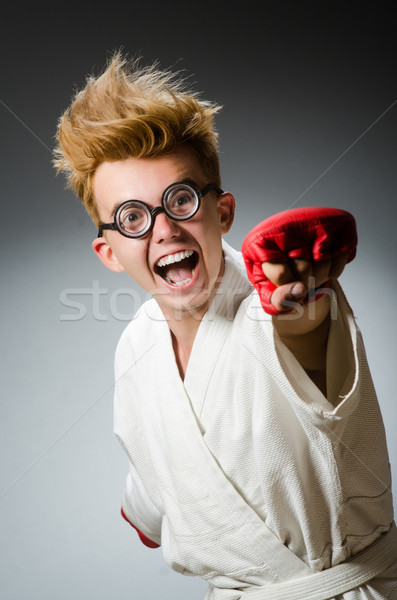 Funny boxer in sport concept Stock photo © Elnur
