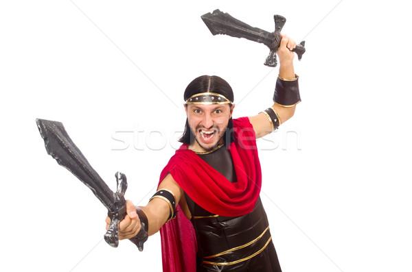 Gladiador espada isolado branco homem Foto stock © Elnur