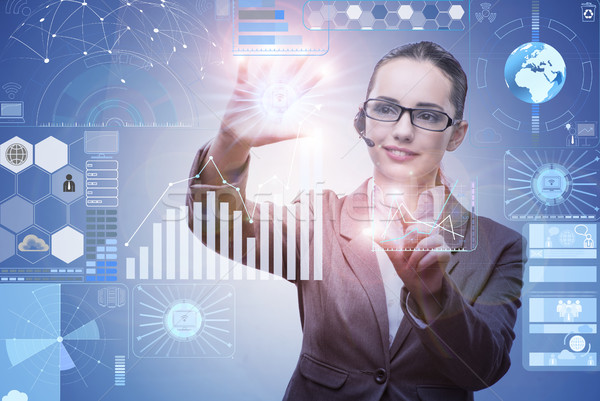 The businesswoman in data mining concept Stock photo © Elnur