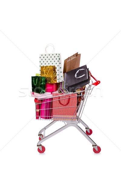 The shopping cart trolley isolated on the white background Stock photo © Elnur