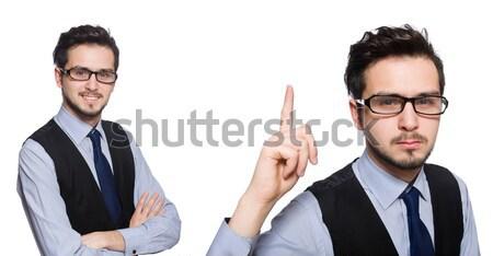 Homem machado isolado homem branco branco negócio Foto stock © Elnur