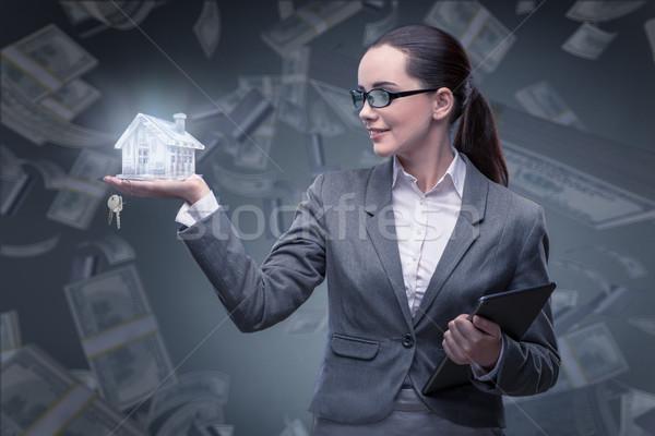 Femme d'affaires logement hypothèque affaires femme bureau Photo stock © Elnur