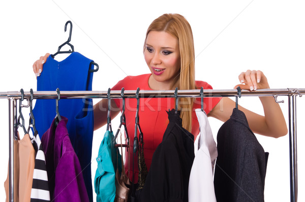 Woman with clothing isolated on white Stock photo © Elnur