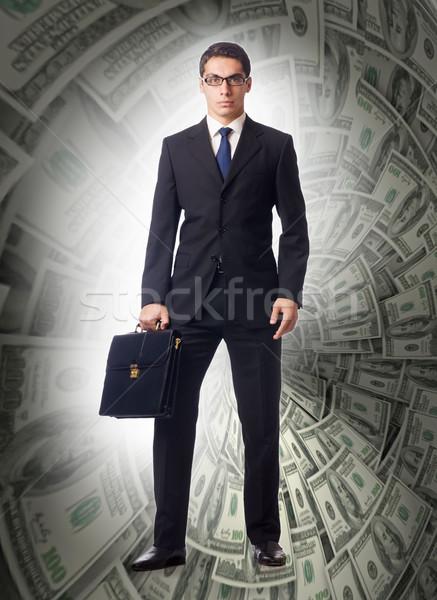 Affaires dollar entonnoir homme financière Photo stock © Elnur