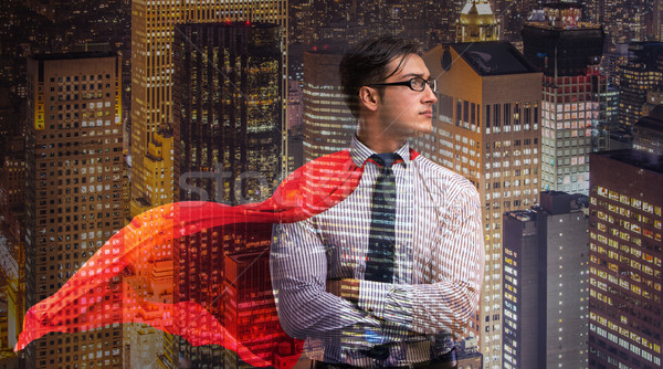 Man with red cover in super hero concept Stock photo © Elnur