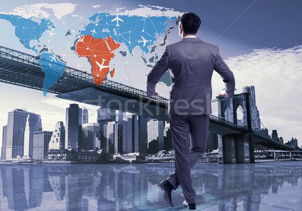 Busienssman in world transportation concept Stock photo © Elnur