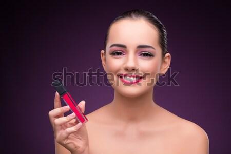 Nő rúzs szépség arc divat háttér Stock fotó © Elnur