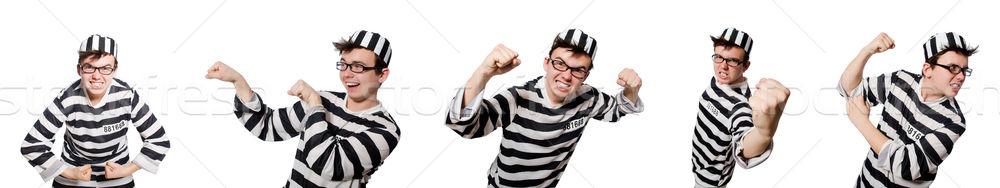 Divertente carcere detenuto uomo legge libertà Foto d'archivio © Elnur