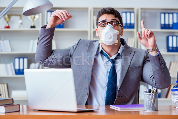 Işadamı terleme kötü ofis işyeri iş Stok fotoğraf © Elnur