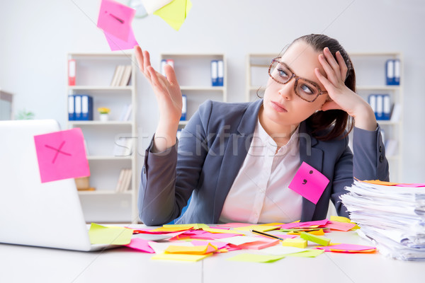 Businesswoman with conflicting priorities in office Stock photo © Elnur
