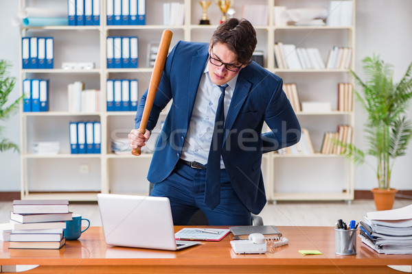 The angry aggressive businessman in the office Stock photo © Elnur