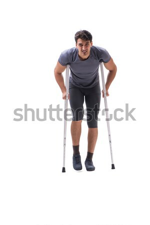 Young patient athlete sportsman suffering an injury trauma with  Stock photo © Elnur