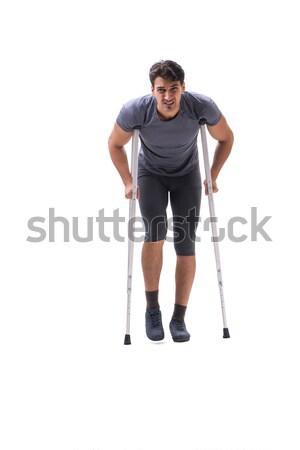 Jovem paciente atleta sofrimento ferimento Foto stock © Elnur