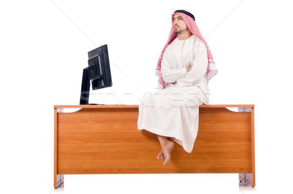Arab man sitting at his desk Stock photo © Elnur