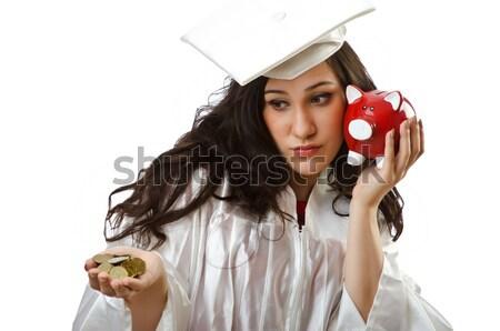 Mujer gangster arma dinero nina modelo Foto stock © Elnur