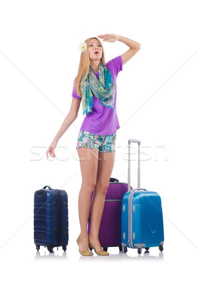 Nő utazás nyári vakáció üzlet munka üzletember Stock fotó © Elnur