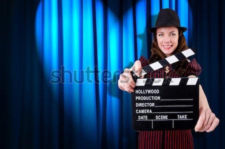 женщину Gangster фильма фильма фон безопасности Сток-фото © Elnur