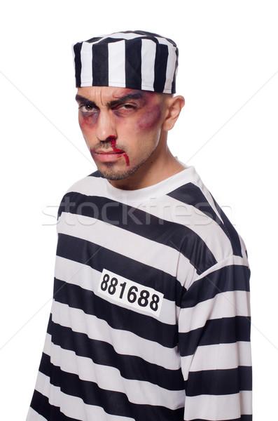 заключенный плохо белый лице прав полиции Сток-фото © Elnur
