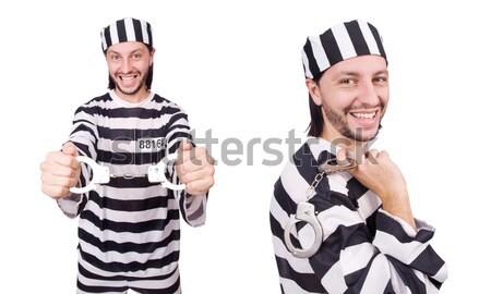 Crimineel gestreept uniform recht politie Stockfoto © Elnur