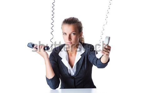 Woman businesswoman with gun on white Stock photo © Elnur