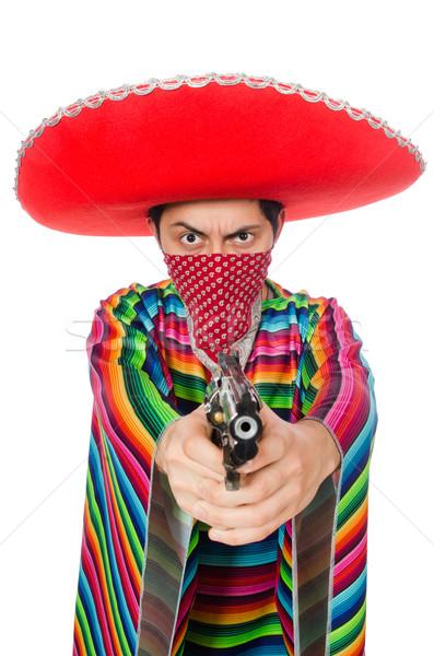 Drôle mexican arme isolé blanche main Photo stock © Elnur