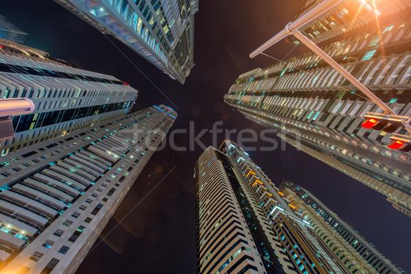 Lang woon- gebouwen Dubai gebouw stad Stockfoto © Elnur