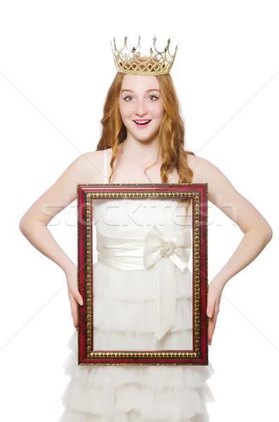 Belleza concurso ganador aislado blanco mujer Foto stock © Elnur