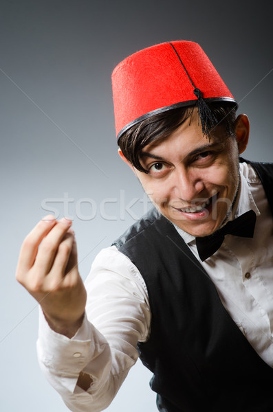 Man wearing traditional turkish hat fez Stock photo © Elnur