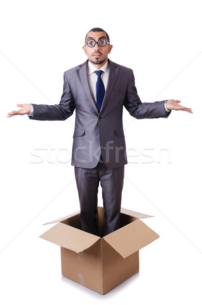 Man in thinking outside the box concept Stock photo © Elnur