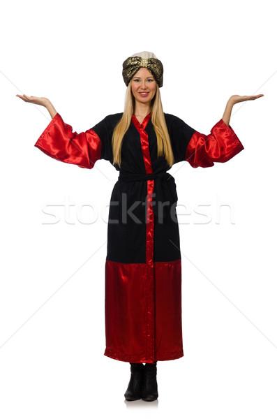 Kobiet magik odizolowany biały szczęśliwy model Zdjęcia stock © Elnur