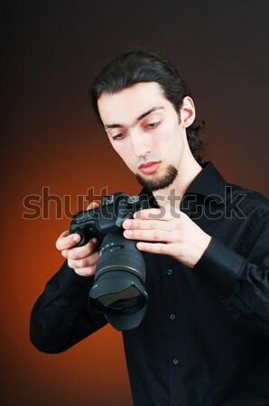 üzletember fegyver gradiens üzlet szolgáltatás fiatal Stock fotó © Elnur