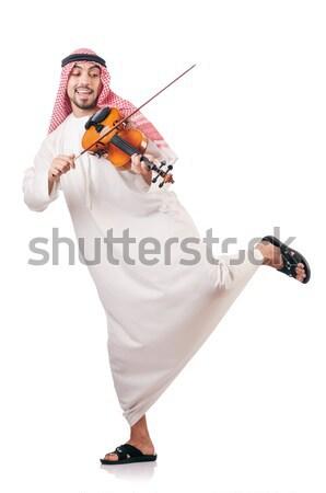 Arap adam oynama enstrüman sanat konser Stok fotoğraf © Elnur
