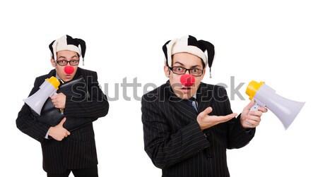 Zangado empresária machado branco cara feliz Foto stock © Elnur