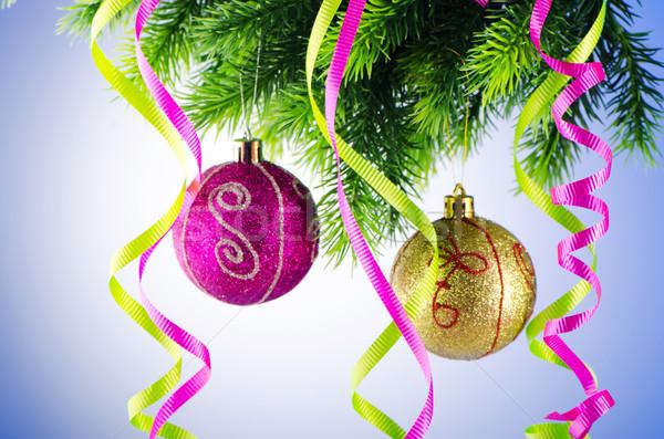 Noël décoration fond espace balle Photo stock © Elnur