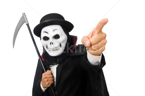 человека Scary маске изолированный белый Сток-фото © Elnur