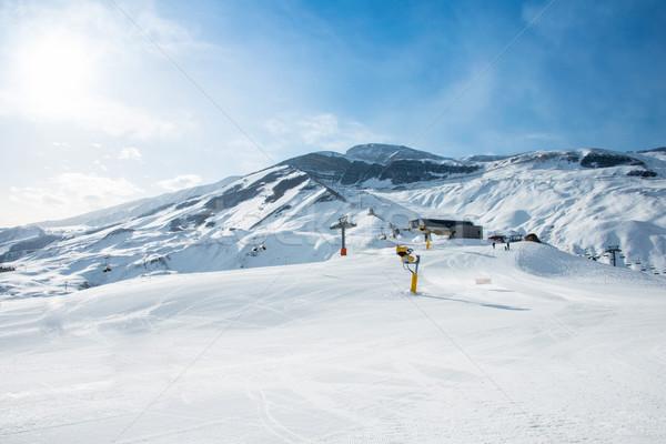 Ski lifts in Shahdag mountain skiing resort Stock photo © Elnur