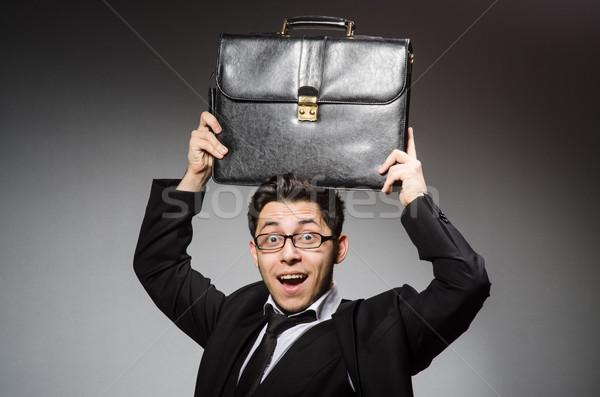 Affaires sac à main gris affaires bureau main Photo stock © Elnur