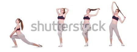 Egészséges életmód szett szexi boldog sport fitnessz Stock fotó © Elnur