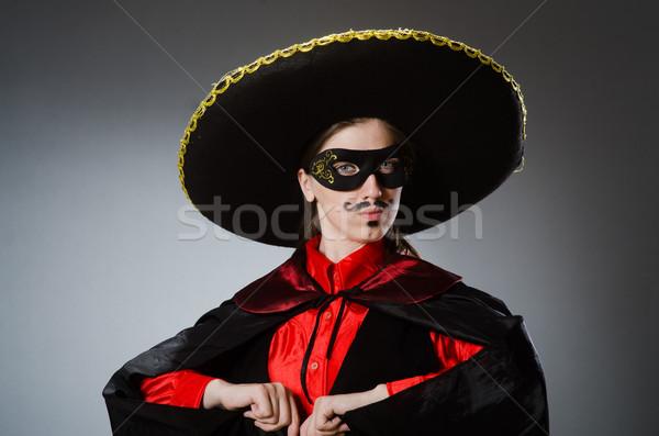 человек сомбреро Hat смешные вечеринка Сток-фото © Elnur