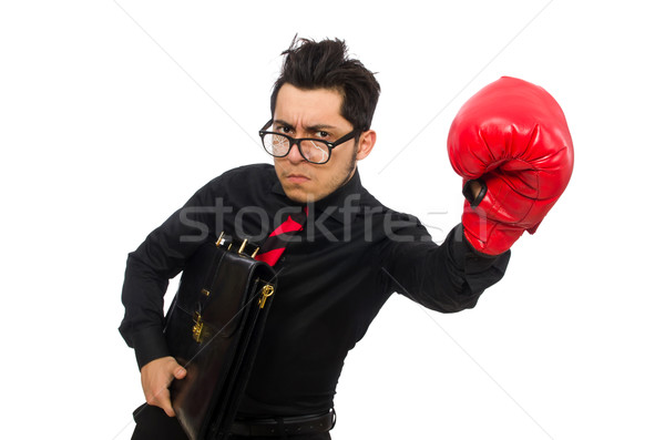 Man businessman with red boxing gloves Stock photo © Elnur