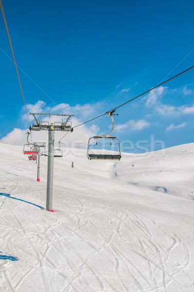 スキー 明るい 冬 日 空 スポーツ ストックフォト © Elnur