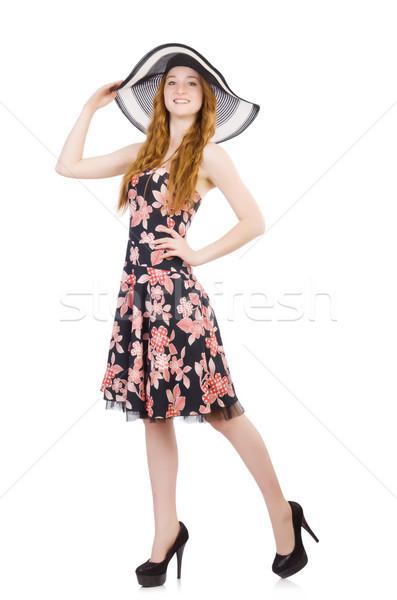 Mulher jovem moda modelo verão branco camisas Foto stock © Elnur