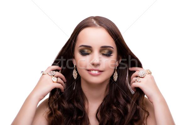 Stok fotoğraf: Güzel · bir · kadın · takı · moda · iso