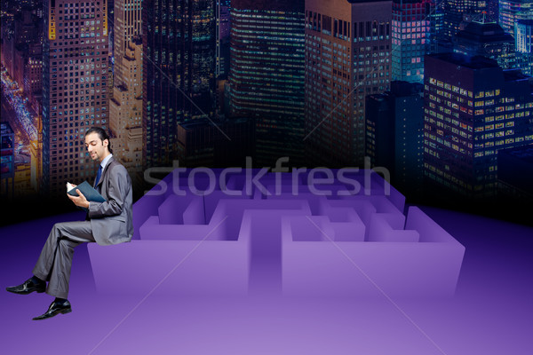 Businessman in maze business concept Stock photo © Elnur