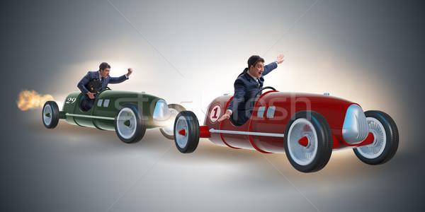 Concurrence gens d'affaires voitures affaires vitesse Photo stock © Elnur
