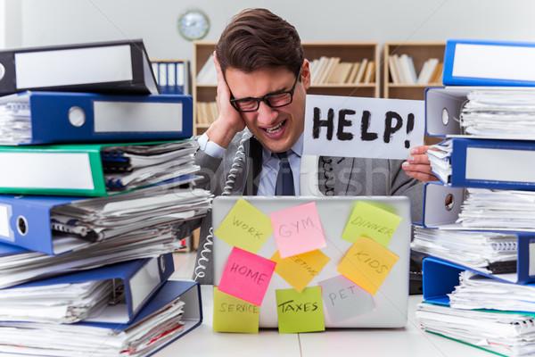 Stok fotoğraf: Meşgul · işadamı · yardım · çalışmak · iş