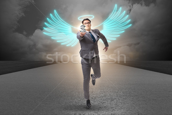 Angel investor concept with businessman with wings Stock photo © Elnur