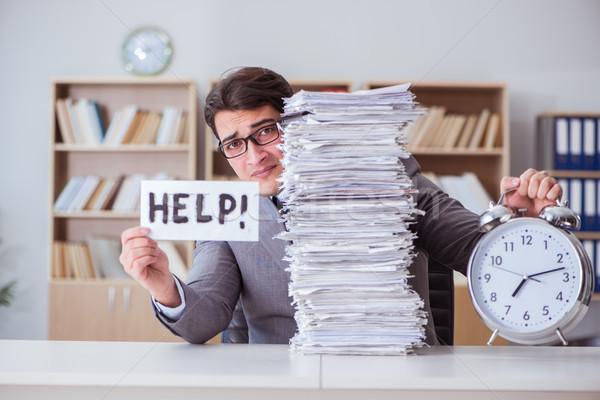 Işadamı meşgul evrak ofis iş kâğıt Stok fotoğraf © Elnur
